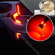 Світлодіодні автолампи CARLAMP 4G-Series W21W-T20 RED (4G21/7440Red), фото 2