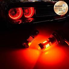 Світлодіодні автолампи CARLAMP 4G-Series W21W-T20 RED (4G21/7440Red), фото 3