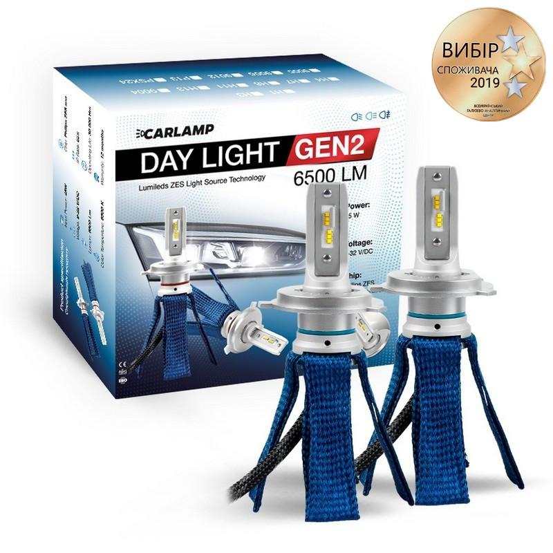 Світлодіодні автолампи H4 6000K 6500Lm ZES CARLAMP Day Light GEN2 (DLGH4)