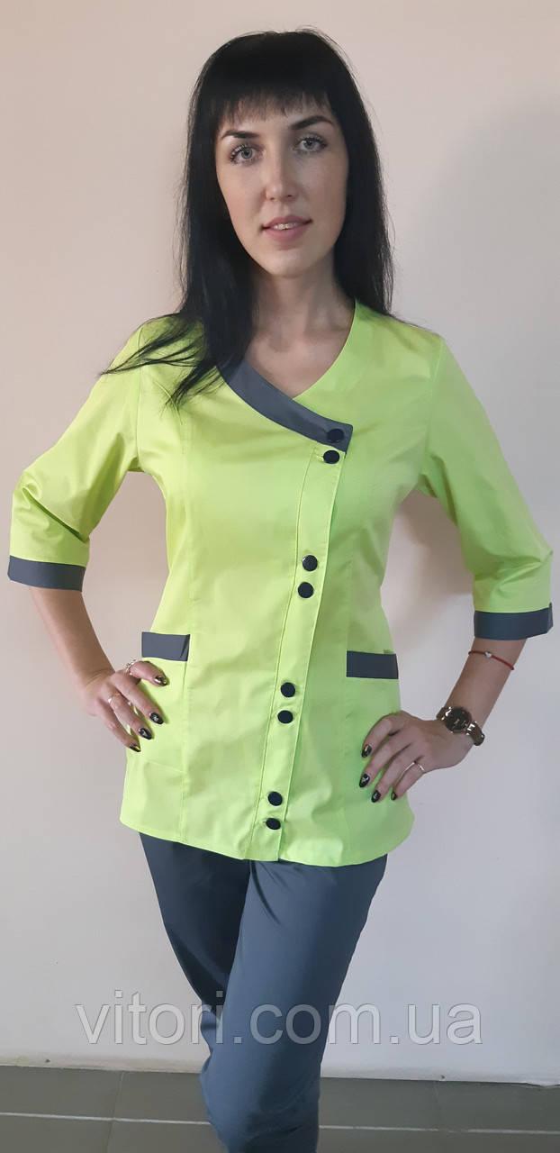 Женский медицинский костюм Китай коттон три четверти рукав