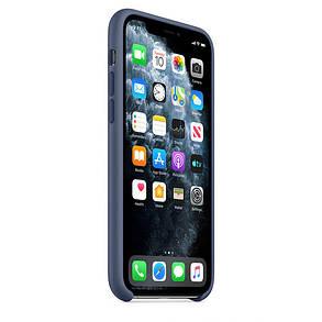 Силиконовый чехол для iPhone 11 Pro. Alaskan Blue. Швы стык в стык, оттенок логотипа и кнопок идентичен, фото 2