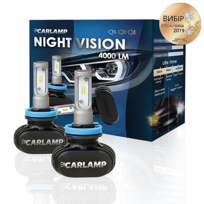 Светодиодные автолампы CARLAMP Night Vision H11 (NVH11)