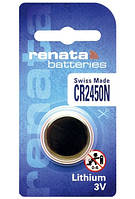 Батарейка дисковая Renata CR2450N Lithium, 3V