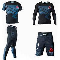 Компрессионная Одежда Одежда для единоборств Мужские лосины для спорта Компрессионная футболка Шорты для ММА