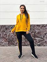 Женский спортивный костюм в больших размерах с удлиненной кофтой и зауженными штанами 8315637, фото 1