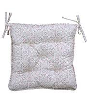 Подушка на стілець табурет Bella рожевий вітраж