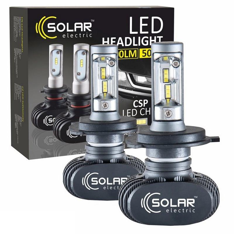 Світлодіодні лампи SOLAR H4 12/24V 6000K 4000Lm 50W Seoul CSP (8104)