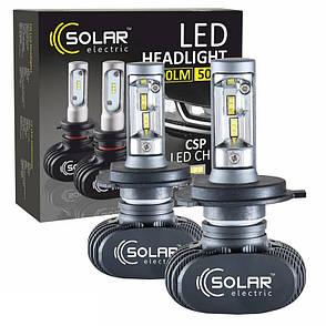 Светодиодные лампы SOLAR H4 12/24V 6000K 4000Lm 50W Seoul CSP (8104), фото 2