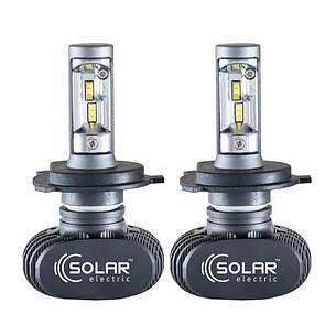 Світлодіодні лампи SOLAR H4 12/24V 6000K 4000Lm 50W Seoul CSP (8104), фото 2