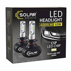 Світлодіодні лампи SOLAR H4 12/24V 6000K 4000Lm 50W Seoul CSP (8104), фото 3