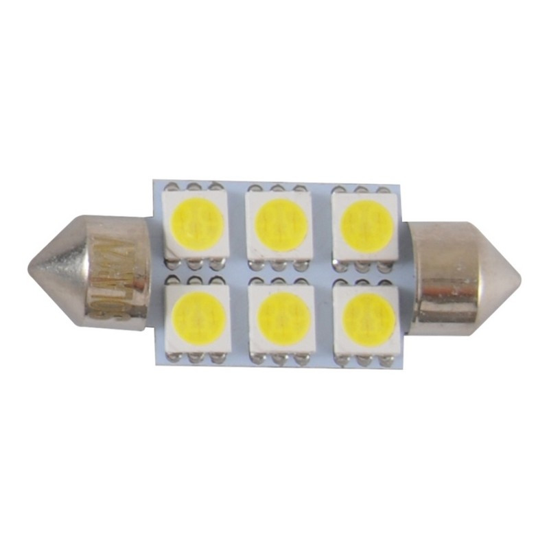 Автолампи світлодіодні Solar 12V SV8.5 T11x36 6smd 5050 white