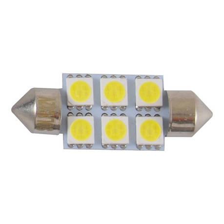 Автолампи світлодіодні Solar 12V SV8.5 T11x36 6smd 5050 white, фото 2