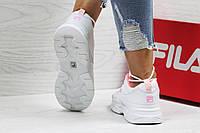 Кроссовки Fila белые с розовым