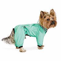 Дождевик для собак Pet Fashion Космос XS-2 (26-28 см) мятный