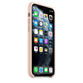 Силиконовый чехол для iPhone 11 Pro. Pink Sand. Швы стык в стык, оттенок логотипа и кнопок идентичен, фото 2