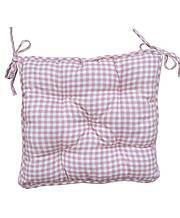 Подушка на стілець табурет Bella рожева клітка