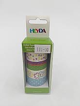Набор бумажного скотча Heyda 203584381 Цветы 4шт