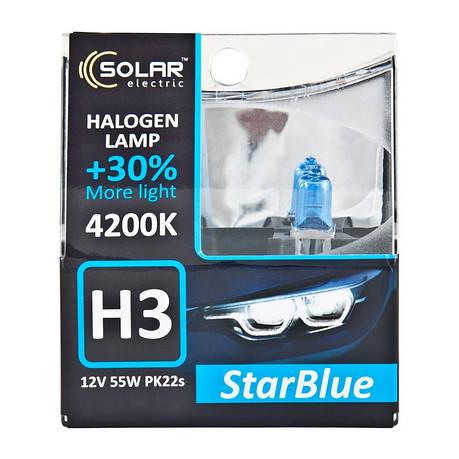 Галогеновая лампа Solar H3 12V 55W PK22s StarBlue 4200K (1243S2), фото 2