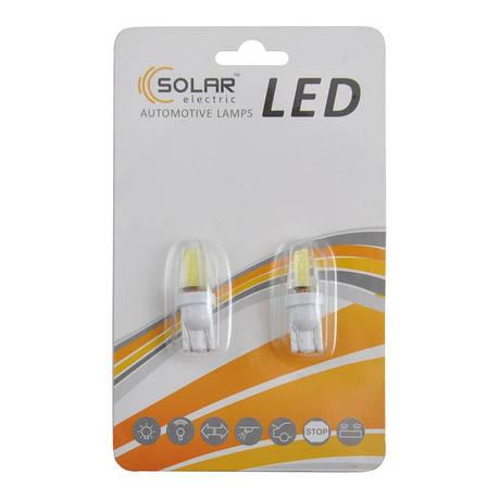 Автолампи світлодіодні Solar LED 12-24V T10 W2.1x9.5d COB 1,5 W 70lm white 2шт (LC346_b2), фото 2