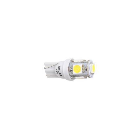 Автолампы светодиодные Solar LED 12V T10 W2.1x9.5d 5SMD 5050 white 2шт (LS243_b2), фото 2