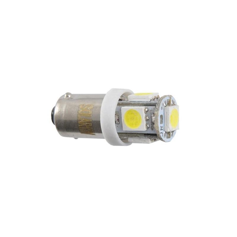 Автолампи світлодіодні Solar 12V T8.5 BA9s 5smd 5050 white (LS246_P)