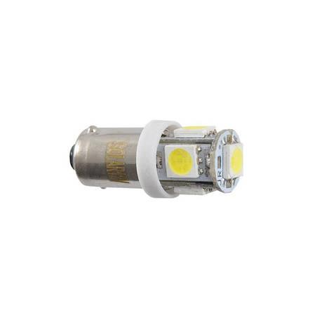 Автолампи світлодіодні Solar 12V T8.5 BA9s 5smd 5050 white (LS246_P), фото 2