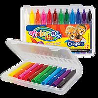 Карандаши  для лица в пластиковой упаковке, 12 цветов, Colorino