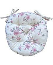Подушка кругла на стілець табурет Bella Троянди