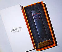 Зажигалка спиральная Lighter JL706 USB Черная