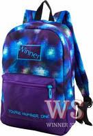 Рюкзаки для девочек Winner Stile 28*13*37 (фиолетово-синий)