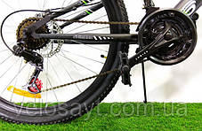 "Горный велосипед 26 дюймов Azimut Race FRD рама 18 "" BLACK-YELLOW, фото 3"