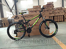 """Гірський велосипед 26 дюймів Azimut Race FRD рама 18 """" BLACK-YELLOW, фото 2"""