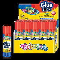 Клей-карандаш на PVP основе 21 г, Colorino
