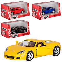 """Инерционная игрушечная железная машинка """"Kinsmart"""" Porsche Carrera GT"""
