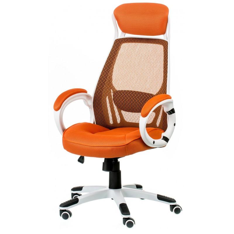 Крісло офісне Special4You Briz orange/white (E0895)