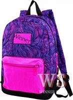 Рюкзаки для девочек Winner Stile 26*16*39 (сиренево-розовый)
