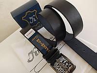 Кожаный ремень мужской,классический,черный 40 мм