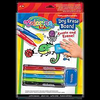"""Доска маркерная """"Пиши-стирай"""" с маркерами и губкой, Colorino"""