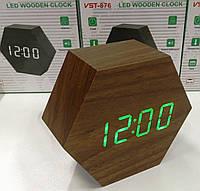 Часы электронные настольные VST-876 Original коричневые