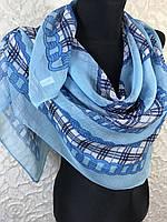 Голубой платок с люрексовой нитью №208 (цв.5)