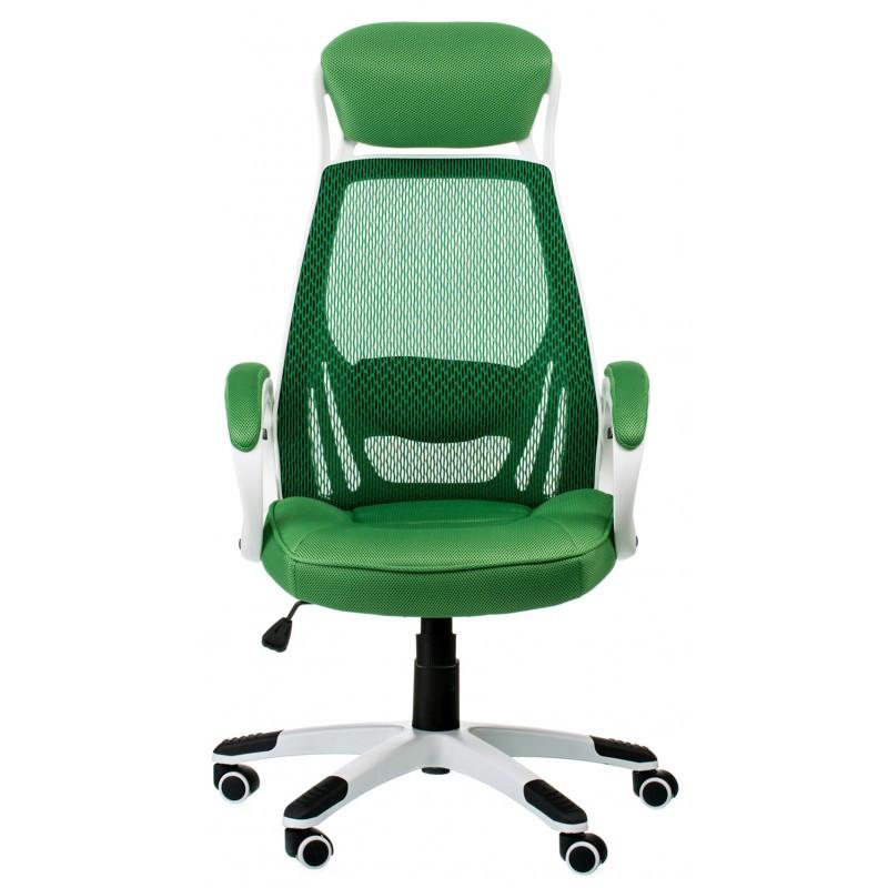 Крісло офісне Special4You Briz green/white (E0871)
