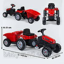 Трактор детский педальный с прицепом HERBY 07-316 Красный
