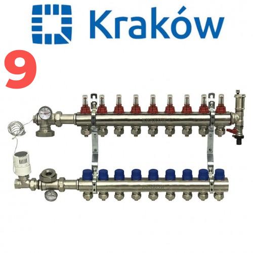 Колектор для теплої підлоги KRAKOW на дев'ять контурів
