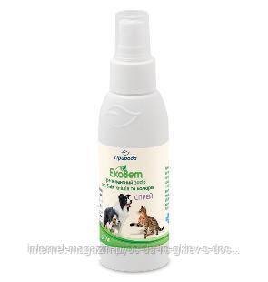 Спрей «ЭкоВет» від подразнень, микровтравм, неприємних запахів, ектопаразитів і ін. паразитів для тварин 250м