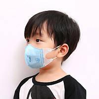 Детская защитная маска для лица, до 3 лет голубая