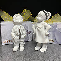 Набор из 2 фарфоровых статуэток Мальчик и Девочка Pavone