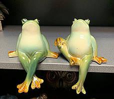 Набір з 2 керамічних статуеток на полицю Жаби CF-13