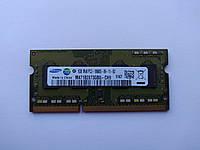 Оперативная память для ноутбука SODIMM Samsung DDR3 1Gb 1333MHz PC3-10600S (M471B2873GB0-CH9) Б/У, фото 1