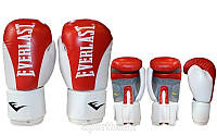 Перчатки боксерские Кожа ELAST BO-3626-R (р-р 10oz, красный)