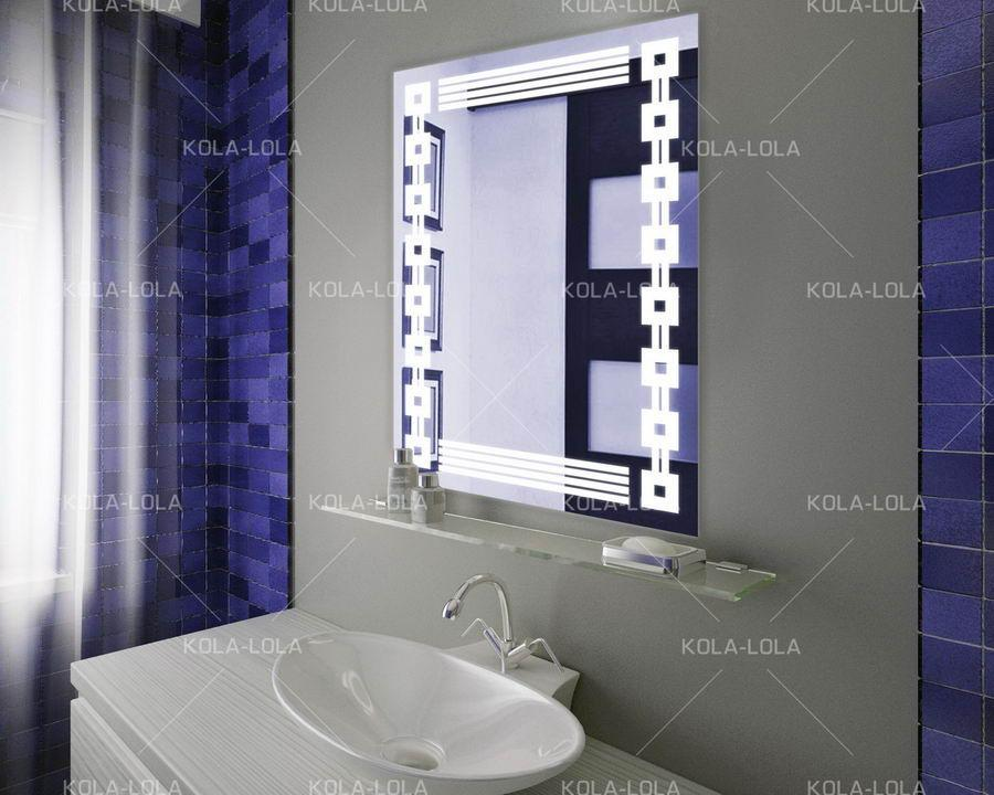 Зеркало LED (60*80*3см) VZ-D10 с полкой на кранштейнах
